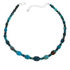 "Jay King 18-1/2"" Azure Peaks Turquoise Oval & Rondelle Beaded Necklace"
