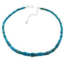 "Jay King 18"" Cloudy Mountain Turquoise Beaded Necklace"