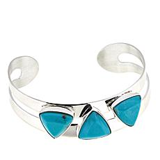 Jay King 3-Stone Campitos Turquoise Sterling Silver Cuff Bracelet