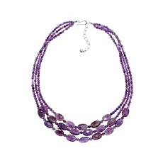 "Jay King 3-Strand Amethyst Bead 20"" Necklace"