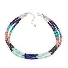 "Jay King 3-Strand Multigemstone Bead 18"" Necklace"