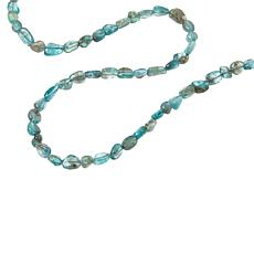 """Jay King 32"""" Sterling Silver Apatite Bead Necklace"""