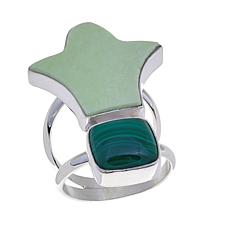 Jay King African Gaspeite and Malachite Ring