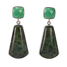 Jay King African Green Opal and Variscite Sterling Silver Earrings