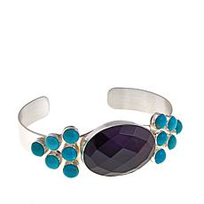 Jay King Amethyst and Turquoise Cuff Bracelet