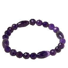 Jay King Amethyst Bead Stretch Bracelet