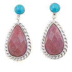 Jay King Angel Peak Turquoise and Rhondonite Earrings