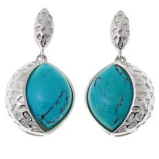 Jay King Angel Peak Turquoise Drop Earrings