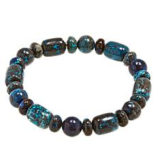 Jay King Blue Forest Stone Bead Stretch Bracelet