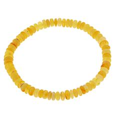 Jay King Butterscotch Amber Bead Stretch Bracelet