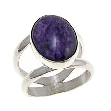 Jay King Charoite Oval Sterling Silver Ring