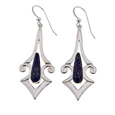 Jay King Contemporary Lapis Sterling Silver Drop Earrings