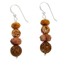 Jay King Crazy Lace Agate and Elephant Skin Stone Earrings