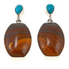 Jay King Desert Sunset Jasper and Turquoise Drop Earrings