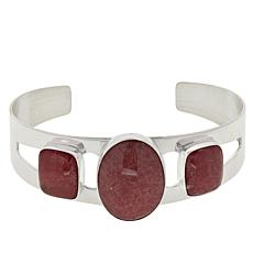 Jay King Gallery Collection 3-Stone Rhodochrosite Cuff Bracelet