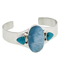 Jay King Gallery Collection Larimar and Turquoise Cuff Bracelet