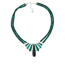 Jay King Gallery Collection Sterling Silver Malachite Necklace