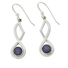 Jay King Gallery Collection Sterling Silver Tanzanite Drop Earrings