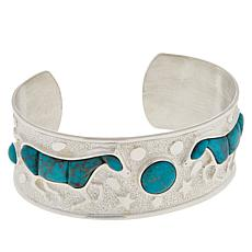 Jay King Gallery Collection Turquoise Horse Cuff Bracelet