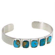 Jay King Gold-Color Matrix Turquoise 5-Stone Cuff Bracelet