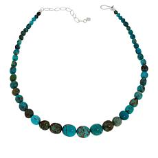 Jay King Graduated Multi-Color Red Skin Turquoise Bead Necklace