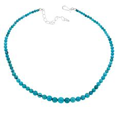 Jay King Graduating Cloudy Mountain Turquoise Bead Necklace