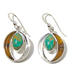 Jay King Green Opal and Turquoise Drop Earrings