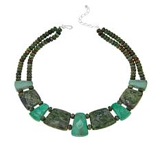 "Jay King Green Opal and Variscite Sterling Silver 18-1/4"" Necklace"
