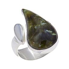 Jay King Green Opal Open-Shank Sterling Silver Ring