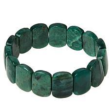 Jay King Green Quartzite Bead Stretch Bracelet