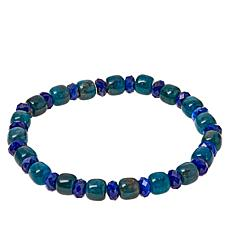 Jay King Indigo Blue Apatite and Lapis Bead Stretch Bracelet