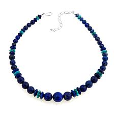 "Jay King Lapis and Turquoise Bead 18-1/4"" Necklace"