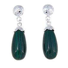 Jay King Malachite Teardrop Earrings