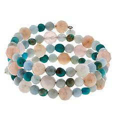 Jay King Multi-Color Multi-Gemstone Beaded Coil Bracelet