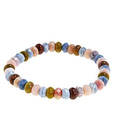 Jay King Multi-Colored Opal Bead Stretch Bracelet