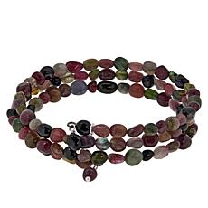 Jay King Multi-Colored Tourmaline Bead Coil Bracelet