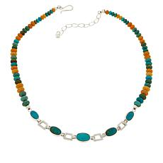 Jay King Multi-Gemstone Oval Station Reversible Necklace