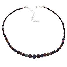 Jay King Multi Sapphire Sterling Silver Beaded Necklace