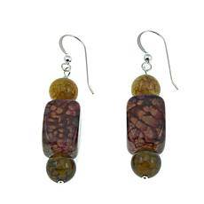 Jay King Multicolored Agate Bead Drop Sterling Silver Earrings