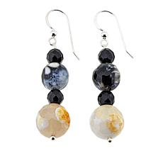 Jay King Multicolored Multigemstone Bead Drop Sterling Silver Earrings