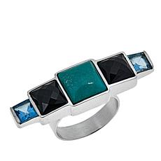 Jay King Multigemstone Horizontal Sterling Silver Ring