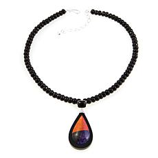 "Jay King Multigemstone Inlay Pear-Drop 18"" Necklace"