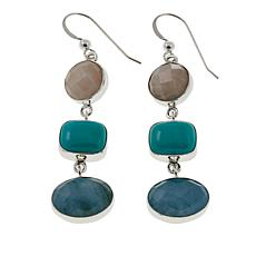 Jay King Multigemstone Sterling Silver Drop Earrings