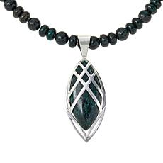 Jay King Oasis Stone Marquise-Shape Pendant with Bead Necklace