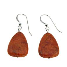 Jay King Orange Coral Drop Sterling Silver Earrings