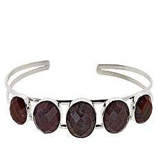 Jay King Orbicular Chalcedony Sterling Silver Cuff Bracelet