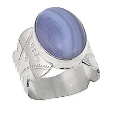 Jay King Oval Blue Lace Agate Sterling Silver Ring