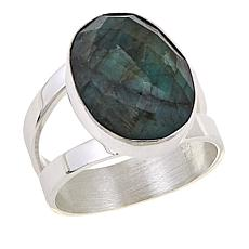 Jay King Oval Emerald Sterling Silver Ring