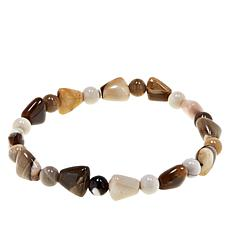 Jay King Peanut Wood Beaded Stretch Bracelet