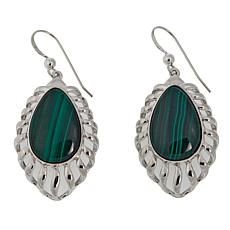 Jay King Pear-Shaped Malachite Drop Sterling Silver Earrings
